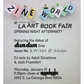 PUNKS & Scholars debut at LA Art Book Fair, plus afterparty!