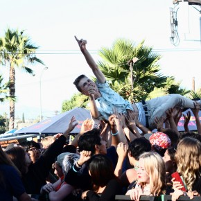 Attendees continued to surf the crowd in celebration of summer.